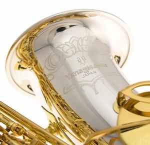 YANAGISAWA A-W033FR Haute Qualité Brass Instrument de musique Alto Saxophone Eb E plates Argenté Corps Laque Clé d'Or Sax avec Embouchure