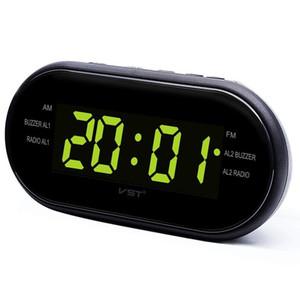 Светодиодный цифровой будильник AM / FM-радио с двойной сигнализацией функция Sleep Snooze розетка питание большой цифровой дисплей для спальни