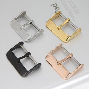 Bracelets de montre Noir / argent / or rose / doré Bracelet en métal Bracelet à boucle ardillon 18mm 20mm 22mm 24mm