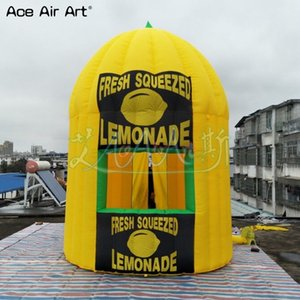 3m x 3,5 diamerer cabina de limón H inflable, personalizado kiosco de limón, el puesto de bebidas, el espacio proveedor de limón promoción bebida carpa