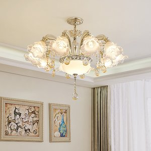 New style European 6-Light D 70cm X H 60cm zinc alloy crystal chandelier led glass hanging lamps for living room bedroom dining room