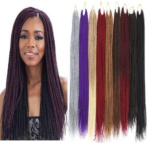 H A Pure Color Synthetic Crochet Braids Hair Extensions 12 Strands Or 30 Strands  Pack Kanekalon Fiber Twist 18 Inch 22 Inch