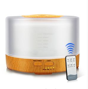 Humidificateur d'air mis à jour 500 ml avec diffuseur d'huile essentielle télécommandé Ultrasonic Mist Maker Diffuseur d'arôme à ultrasons couleur atomiseur LED