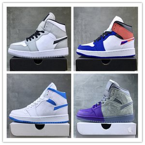 wholesale New 1s I Smoke Grey men women mid basketball shoes outdoor trainers top quality free shipping size 36-46