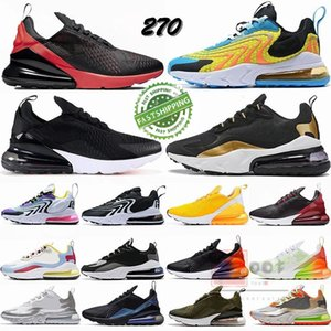 2020 Novo 270 Reagir ENG Vapores Running Shoes 2,0 Bred 270S Bauhaus Sliver Ouro Triplo Preto Maxess brancos v3 Mens Trainers Mulheres Sneakers