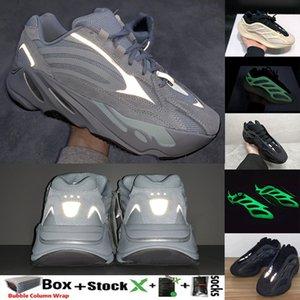 2020 Kanye West Azael Alvah Gid Glow 700 V3 Hastanesi Mavi Tephra Raffles V2 3M Yansıtıcı Erkek Kadın Koşu Ayakkabı Tasarımcısı Eğitmenler Sneaker