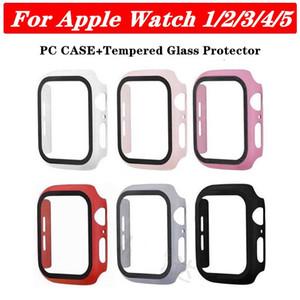 360 Full Screen-Schutz für iWatch 38mm 42 mm 40 mm 44 mm Stoßfeld-PC harten Fall mit gehärtetem Glas-Film für Apple Watch 5/4/3/2/1 Abdeckung