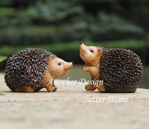 2PCS PACK Resin Hedgehog art decor crafts home decor gifts Cute crafts gifts for kids garden home decoration garden ornaments HWD60