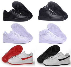 2020 NEW Designer CORK FoR Men&WomeN High Quality One 1 casual Shoes Forces Low Cut All White Black Colour Casual Sneakers Size US 5.5-12