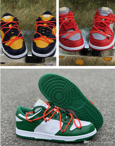 Con caja caliente FUTURA X SB Dunks Low Off Off Casual Zapatos Mujeres Mens Designer Verde Orange Azul Blanco Dunks des Chaussures Taquets Zapatos