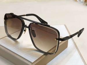 Homens Ouro Praça Sunglasses 121 Ouro Preto / Brown Shaded Pilot óculos Shades occhiali da sole novos com caixa