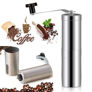Manual Moedor De Café Moinho De Burr Cônico Para Francês PressPortable Aço Inoxidável Moinhos De Pimenta Cozinha Ferramentas DHL WX9-1464