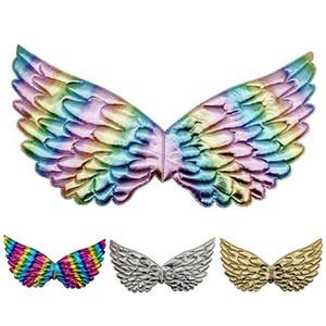 Gökkuşağı Perisi Tüy Angel Wings doğum günü partisi Cadılar Bayramı Dekorasyon Yetişkin Çocuk Fantezi Elbise Kostüm aksesuvar