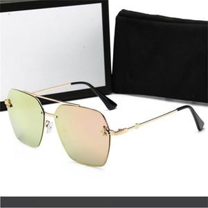 2020 Оптовая продажа-стеклянные линзы мода мужчины и женщины покрытие солнцезащитные очки UV400 старинные спортивные Polit солнцезащитные очки с коробкой и наклейкой