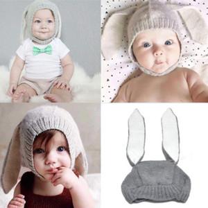 Cute Bunny Ears Design Hats Baby Boy Girl Warm Beanie Korean Style Adorable Warm Cap Infant Knitting Winter Hat New