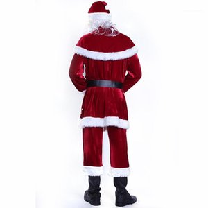 Diseñador de ropa para mujer para hombre de Cosplay Moda Santa Claus tema del traje de Cosplay de la ropa a juego Pareja Feliz Navidad