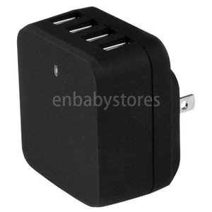 In Germany! 4-port Stock Usb Wall Charger With Removable Us Uk Eu Au Plugs International Travel 34w 6.8a Can Charge 4 Devices Simultaneously