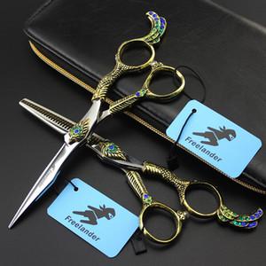 Tijeras profesionales de 6 pulgadas F Peluquería Tijeras de corte de cabello Sistemas de la tijeras de barbero Salón de alta calidad