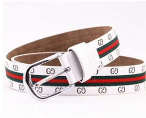2020 new pin buckle embossed belt for men and women red and green fashionable belt
