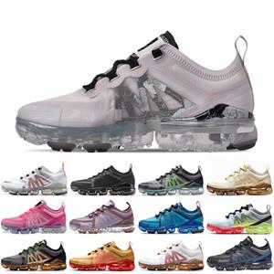 Nike Air Vapormax 2019 TN Plus Cuscini firmati Vomaxpor  TN Plus Scarpe da corsa per uomo Donna Blooming Stampe floreali Triple Black White Traspirante tns Scarpe sportive