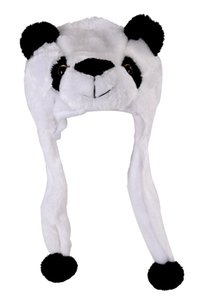 Childrens Animal Hat With Scarf Faux Fur Kids Winter Hat Cool Gift - Panda Pet Supplies Home Garden