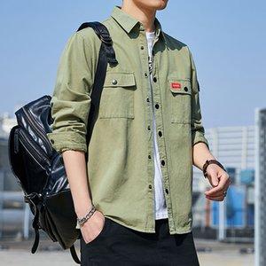 Рубашка мужская Корейский моды красивый новый 2020 осень с длинными рукавами случайные случайные мужские рубашки пальто мужчин