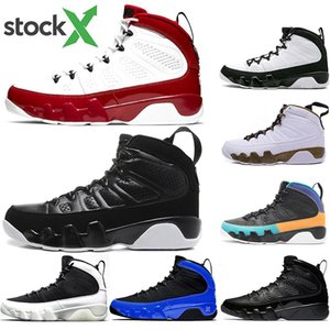 With free socks 9 Men basketball shoes 9s Tour blue black Anthracite Gym Red Bred best quality mens trainers sports sneakers size 40-47