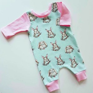 Newborn Easter Baby Girls Animal Romper Bodysuit Playsuit Cotton Outfits