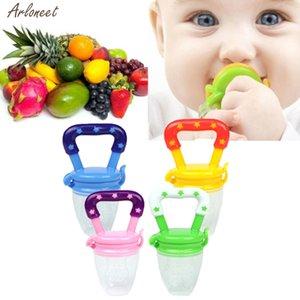 Nuevo bebé Chupete de silicona Seguridad niños pequeños Mordedor vegetal de frutas dentición juguete masticable Anillo Chupete Coma la fruta suplemento alimenticio