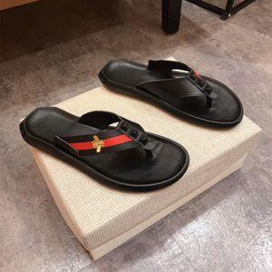 pantofole del progettista di marca, il nastro verde rosso verde flip-flop sandali firmati, scivoli firmati, scarpe di design mens pistoni della spiaggia Tiger bee7453