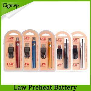 Batteria di preriscaldamento della batteria USB del corredo di legge 1100mah O Pen Bud Touch Batteria di tensione variabile per CE3 G2 G5 th205 Mt6 cartucce DHL 0266177-1