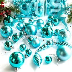 Pacchetto Natale palla ornamento luce di Natale decorative palle set di 30 pezzi di ornamenti dell'albero di Natale Scena puntelli di layout