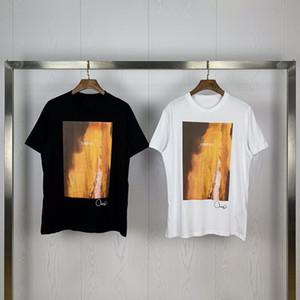 20SS Hommes T-shirt d'été Hommes Femmes de haute qualité coton à manches courtes Mens Imprimer T-shirt noir t blanc