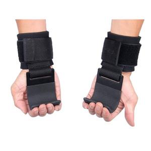 Freies DHL-Gewichtheben Haken für Männer Qualitäts-Gym Grip Armband Straps Handschuhe Gewichtheben Krafttraining Fitnessgeräte L113FA