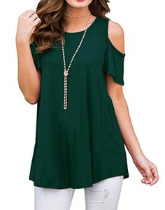 2019 nwe fashion women's European and American fashion blockbuster T-shirt with round collar, short sleeves and loose shoulders