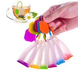 Çay Poşeti Silikon Demlik Çay Yaprağı Süzgeç Gevşek Bitkisel Spice Filtre Difüzör Kahve Çay Araçları Parti hediye