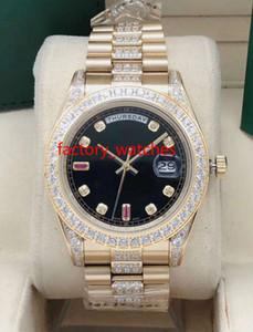 NEUE automatische Mannuhr 41mm Goldgehäuse Steine Lünette und Diamanten in der Mitte des Armband-Mehrfarbenwahl Uhrqualitäts Handgelenk