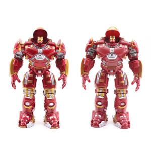 Marvel Avengers 2 Iron Man 18 CM Hulkbuster Armor Juntas Movable PVC Figura de acción Marca con LED Colección de luz Modelo de juguete #E