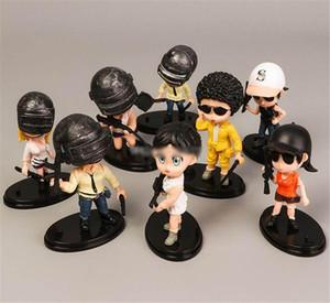9CM 8 pcs / lot PUBG Jeux Figurines en action Jouets Poupée PVC de haute qualité PLAYERUNKNOWN'S Jouets CHAMPS DE BATAILLE