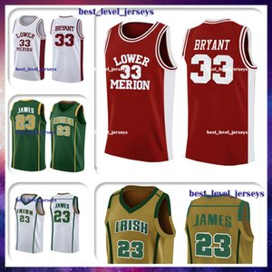 NCAA Lower Merion lycée 33 jersey 23 jersey LeBron James de lycée Saint-Vincent-St. Mary Lycée 3-17