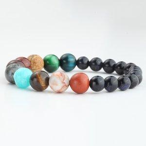 Charm Bracelets 7 Chakra Bracelet for Women & Men Planet Reiki Natural Stone Beads Yoga Women's Bracelets Wristband Fashion Couple Bracelet