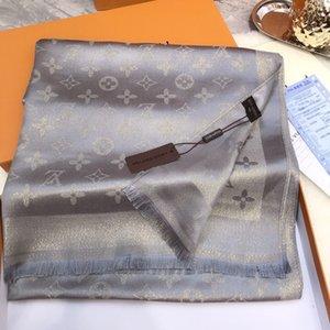 lã de designer e lenço de seda Hot Sale Mulheres Spring Luxury verão Xaile Scarf Marca Lenços Tamanho cerca de 180x70cm 6 cores NO Box opcionais