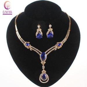 Brand New ожерелья Набор African Бижутерия Набор 18k позолоченной Свадебный австрийский хрусталь горный хрусталь