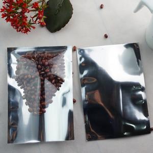 8 * 12cm, 200pcs avant masque plat facial clair-aluminé sac en mylar emballant des sacs plaine, soudure thermique argent poche métallisée de ping, sacs de coton sac