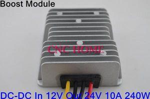 Freeshipping DC-DC Boost Модуль 12 В до 24 В 10A 240 Вт Автомобиль Boost Power Converter Водонепроницаемый Повышающий Модуль Алюминиевый Корпус Конвертер