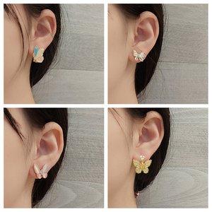Find Me Cute Rhinestone Butterfly Earrings for Women Simple Alloy Charme Stud Earrings 2020 New Fashion Jewelry Accessories