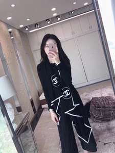 2019 de mode hommes de laine de concepteur de marque de la mode et les lettres de mode en cachemire écharpe tricotés femmes brodé châle noir et blanc