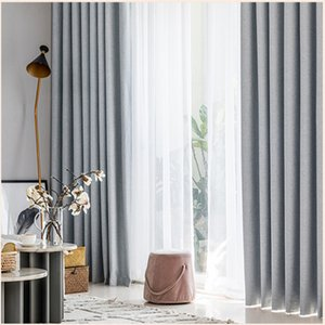 Full Shading Color Linen Curtain Cloth Insulation & Noise Reduction Bedroom Living Room Balcony Finished Curtain Processing Custom Cutains