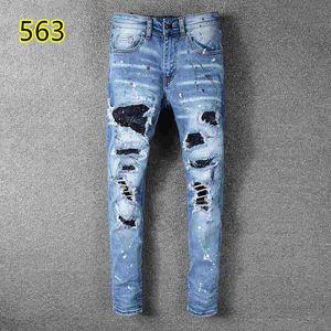 2020 de alta qualidade 038 Amiri Jeans famoso designer da marca homens jeans da moda de rua homem homens desgaste motociclista calças jeans