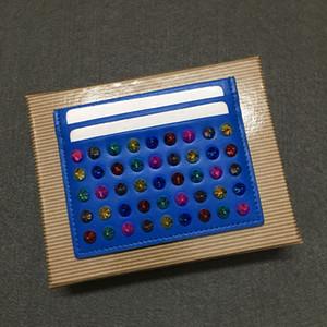 Kuhfell Mode Karteninhaber schlagen Farbe Nieten in tide Leder breite Schultertragegurt Farbabmusterung wilde hohe Visitenkarte Paket-Kartenhalter